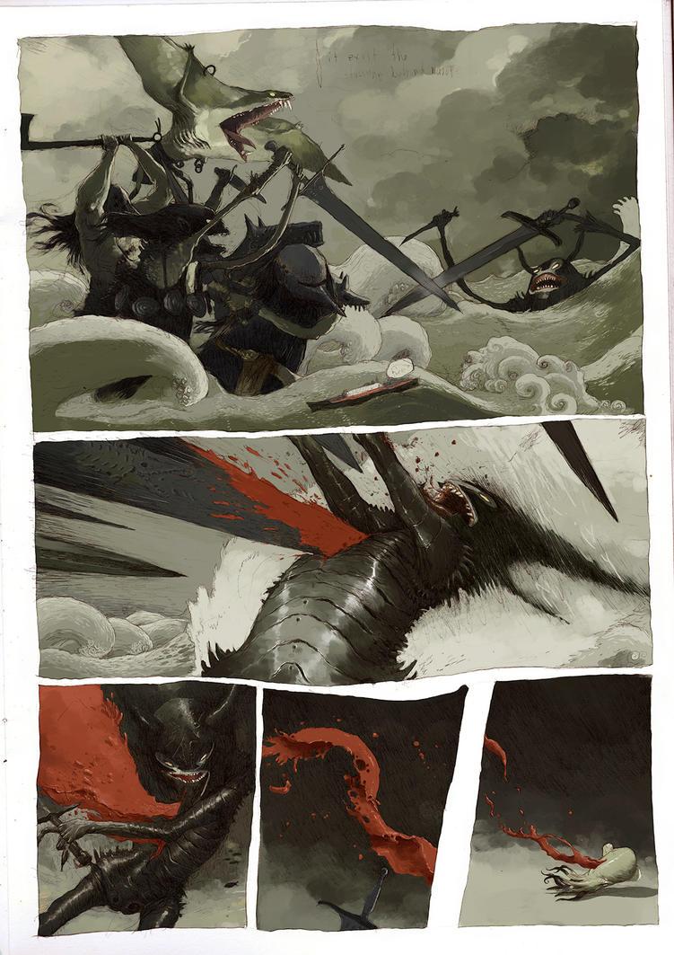 the sea war by tonysandoval