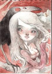 crow girl by tonysandoval