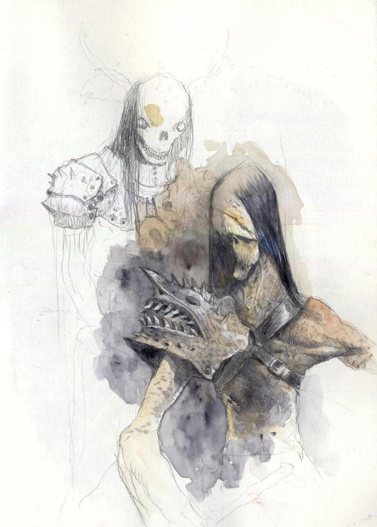 dead warrior by tonysandoval