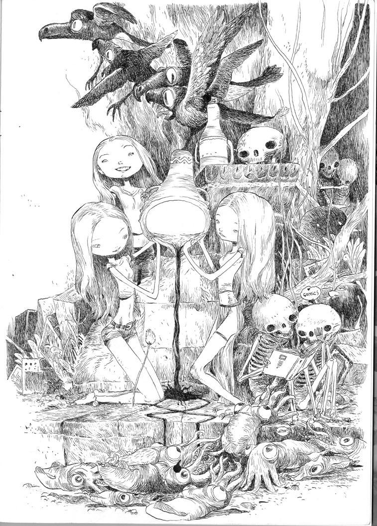 vino y comics by tonysandoval