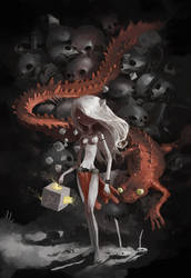 red lizard by tonysandoval