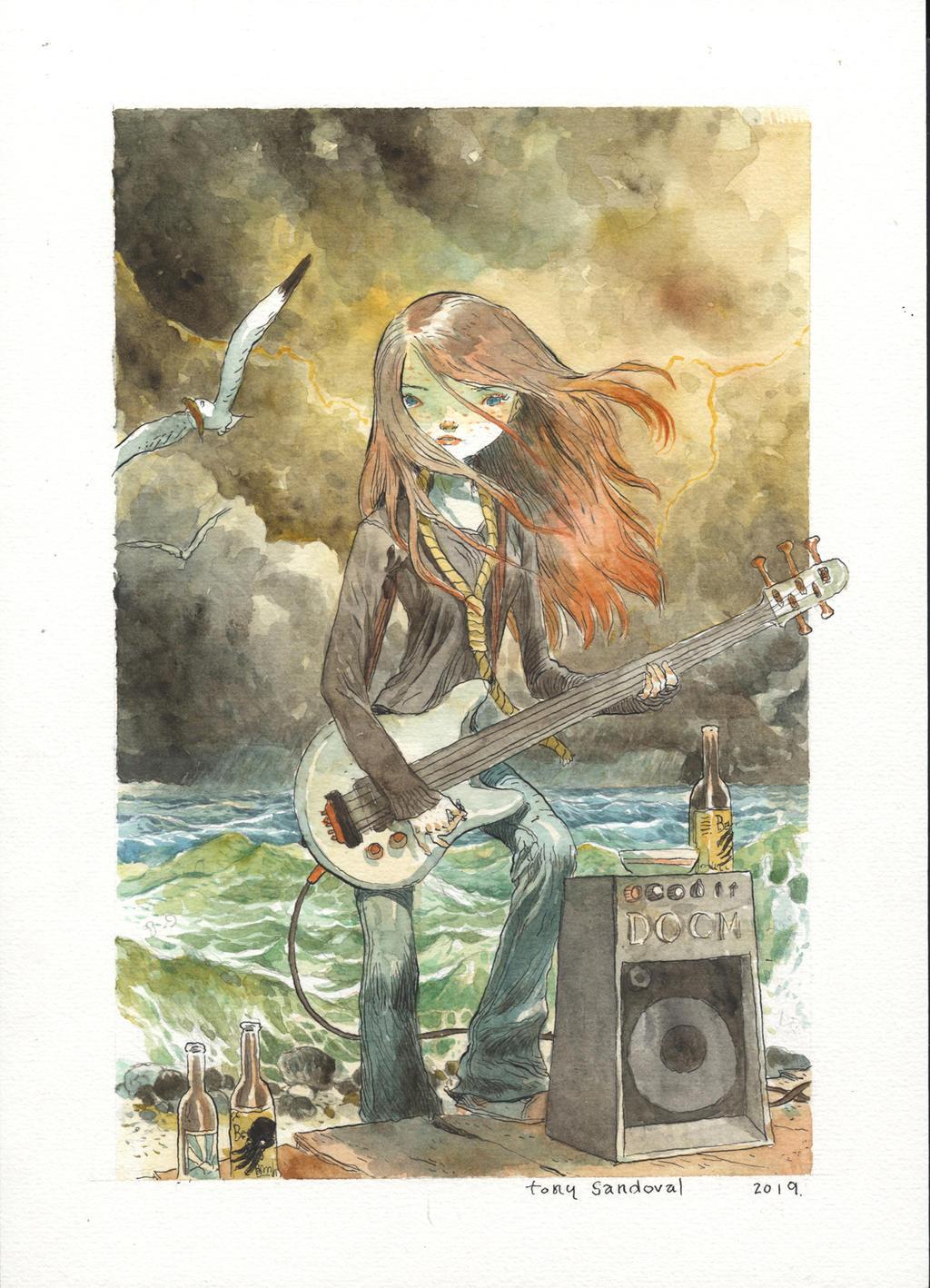 Doomgirl at the sea