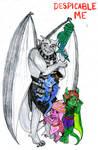 Despicable Me Gargoyles by Lunarscar