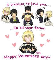 Mikayuu happy valentines day by Araaraa