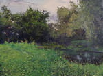 May. Olhovka river. Lugansk