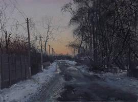 Evening in Lukyanivka