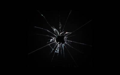 Apple broken glass wallpaper by Leconte