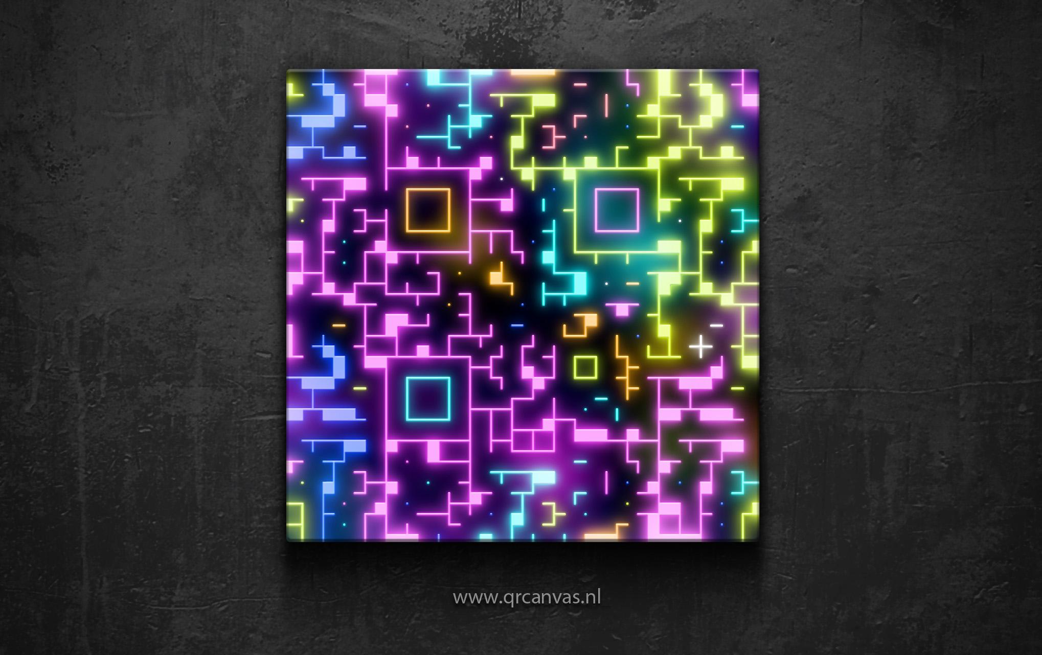 qr code art neon design by leconte on deviantart. Black Bedroom Furniture Sets. Home Design Ideas