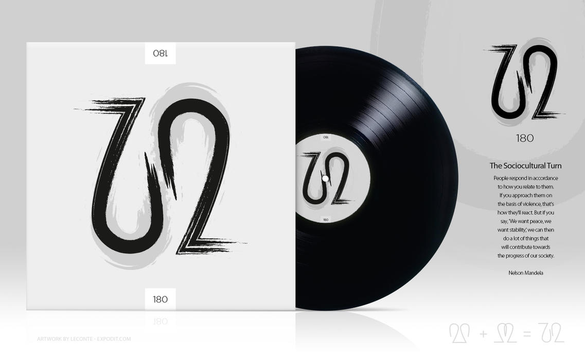 u2-180 ambigram album cover concept design by Leconte