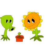 Sunflower and Peashooter's son - Sunshooter