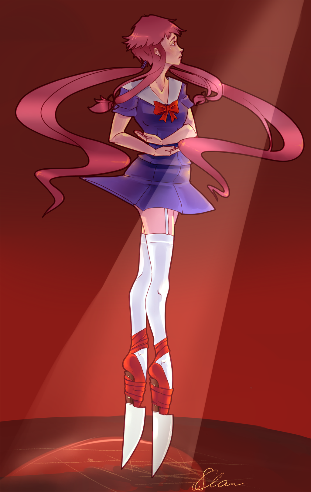 Gasai Yuno on knives by 0127 on DeviantArt