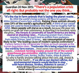 Population Crisis of Meat Dairy Wasting Resources by eatingourfuture