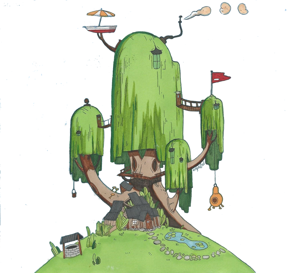 Adventure Time Treehouse Transparent By Homisike On