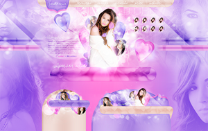 New Design feat Demi Lovato at nikkiiworld by cherryproductionsorg