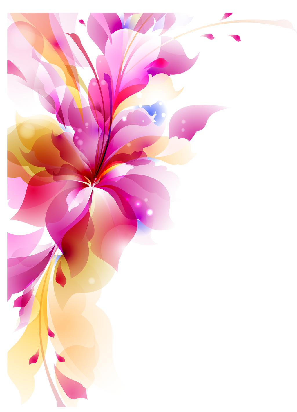 flower girl vector abstract - photo #16