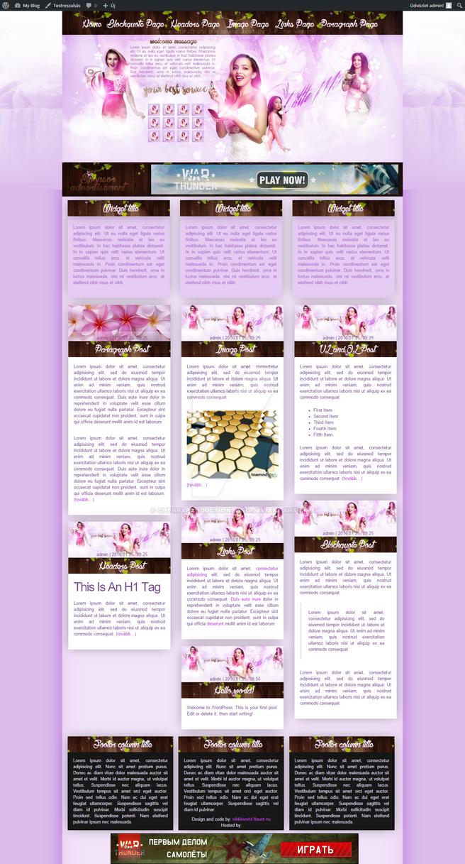 LittleMix Wordpress Theme by cherryproductionsorg