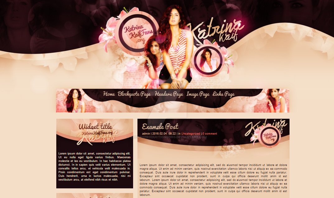Katrina Kaif WP theme by cherryproductionsorg