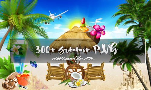 Summer Png Megapack by cherryproductionsorg
