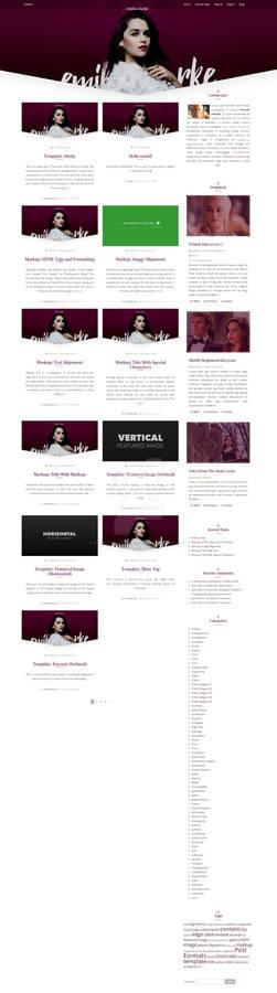 Emilia Clarke Wordpress theme