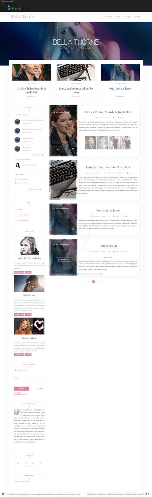 Bella Thorne G-Portal theme