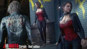 Jill Moto Corset - Red Addon