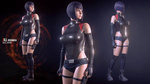 Jill Kusanagi No Jacket-Shorts