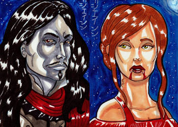 Count Dracula and Mina Harker for Viceroy Cards by RazeComix