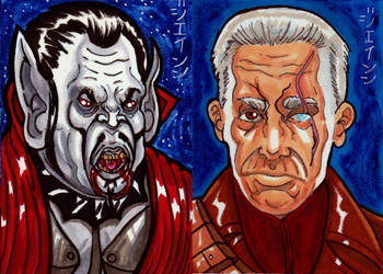 Count Dracula and Prof.Van Helsing for Viceroy! by RazeComix