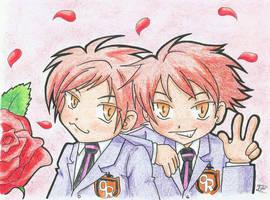 Hitachiin twins chibi by Iskeanime16