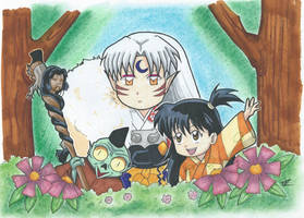 Sesshoumaru, Rin and Jaken