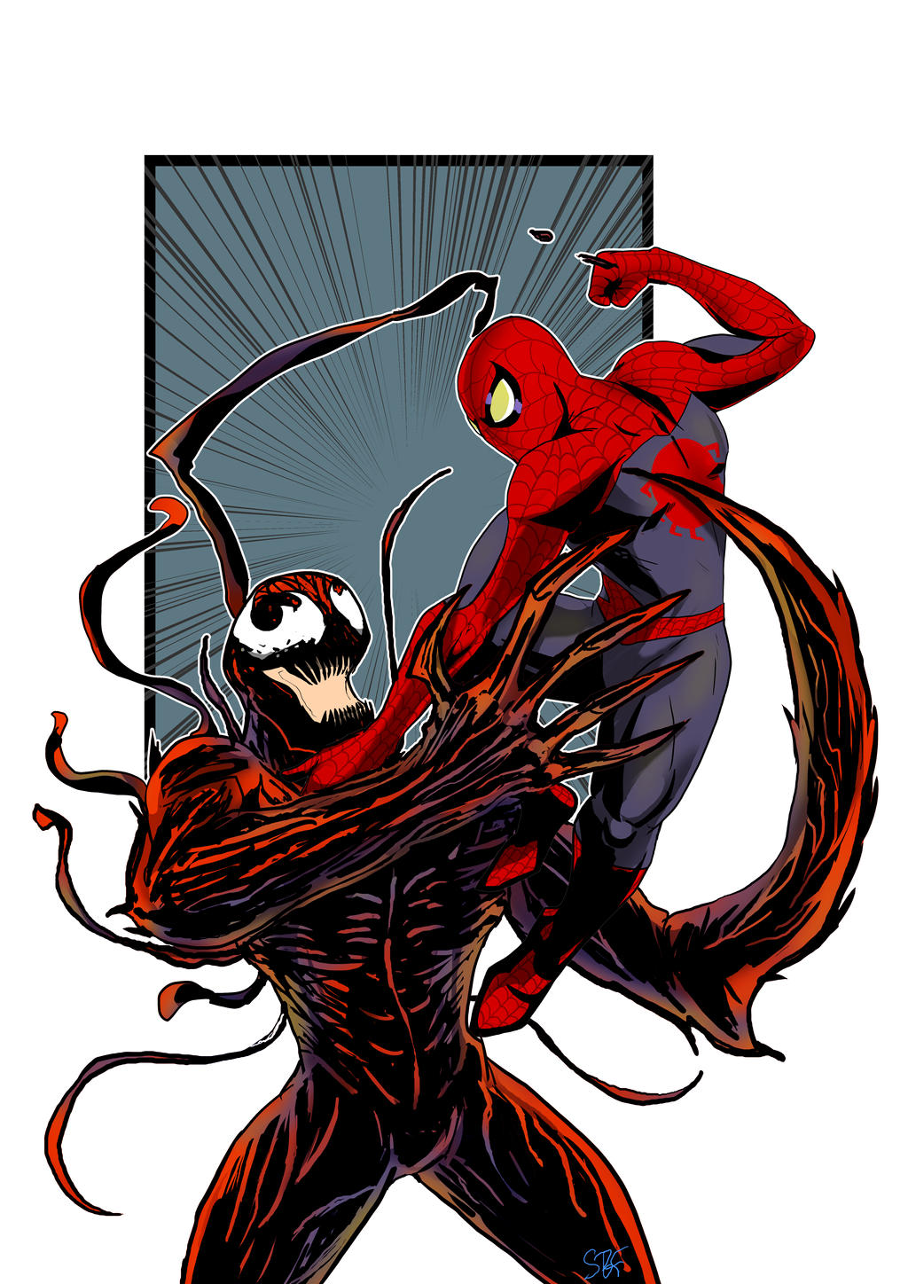 black spiderman vs carnage - photo #1