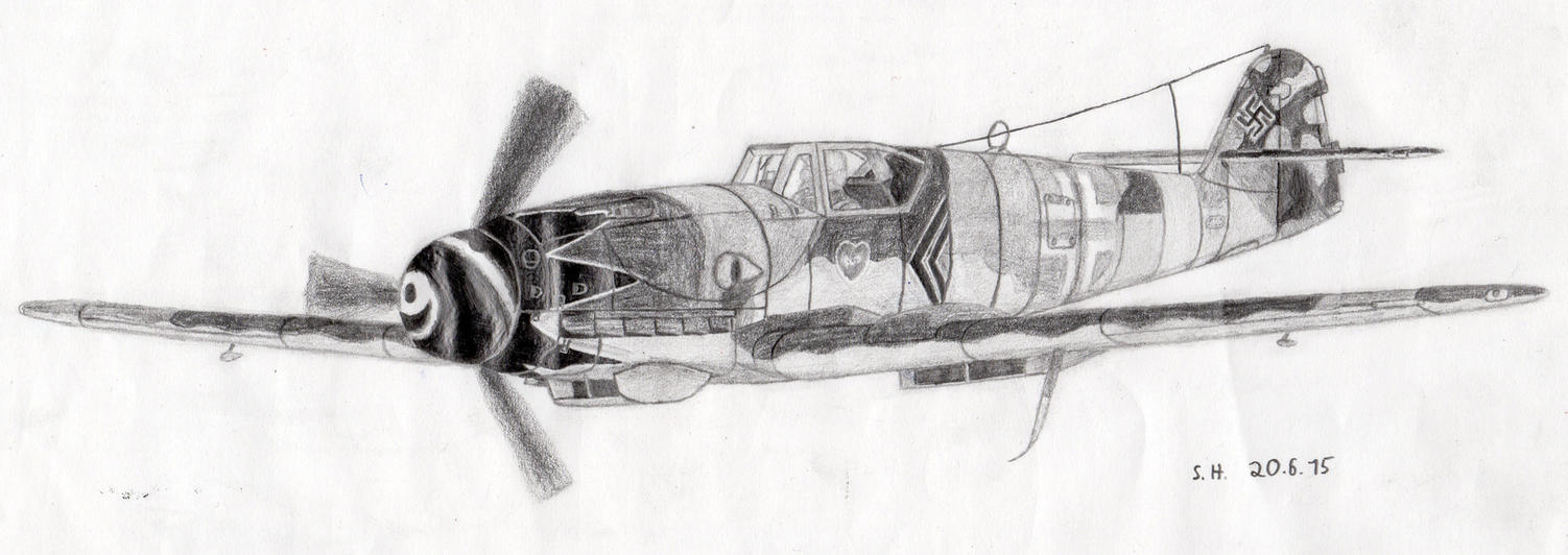 messerschmitt bf 109 coloring pages - photo#11