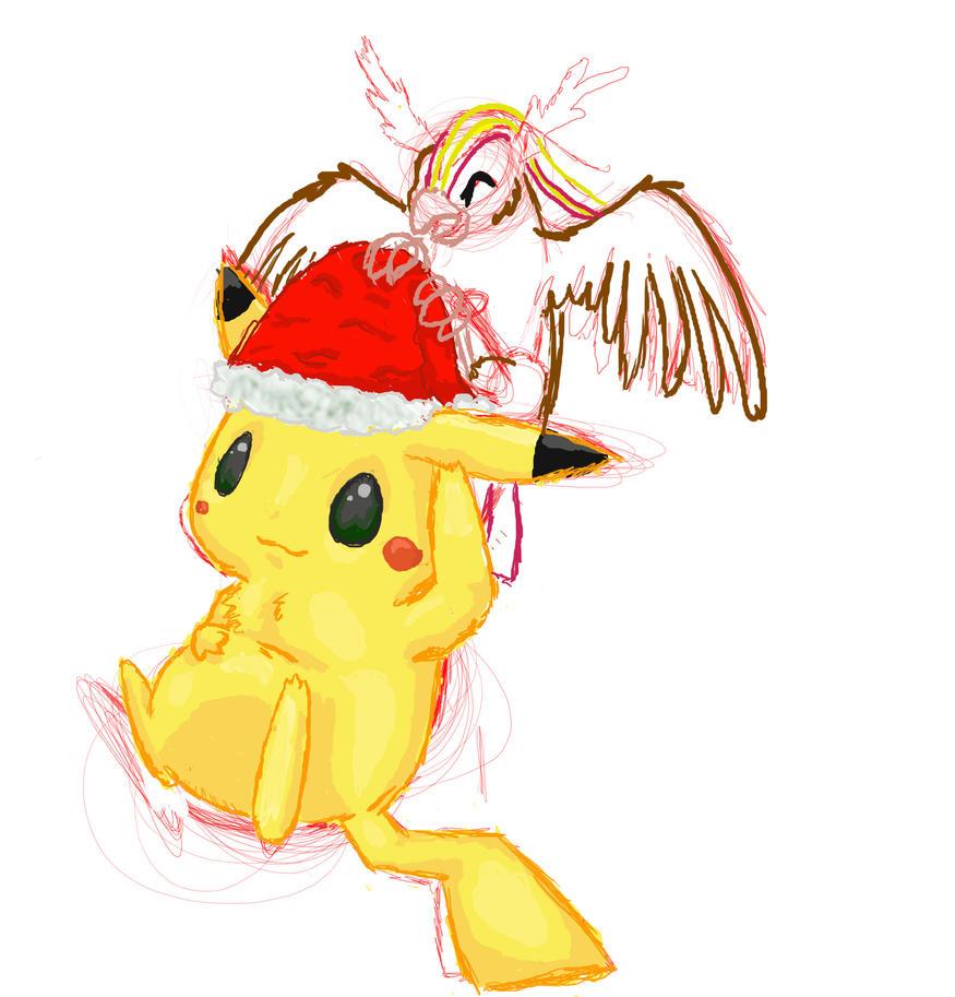 pokemon christmas drawing wip by xwolftriggerx on deviantart