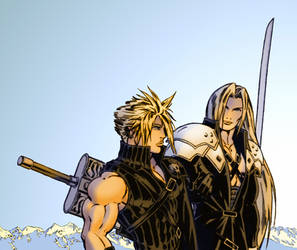 Cloud and Sephiroth - Peace... by Cloudyfan