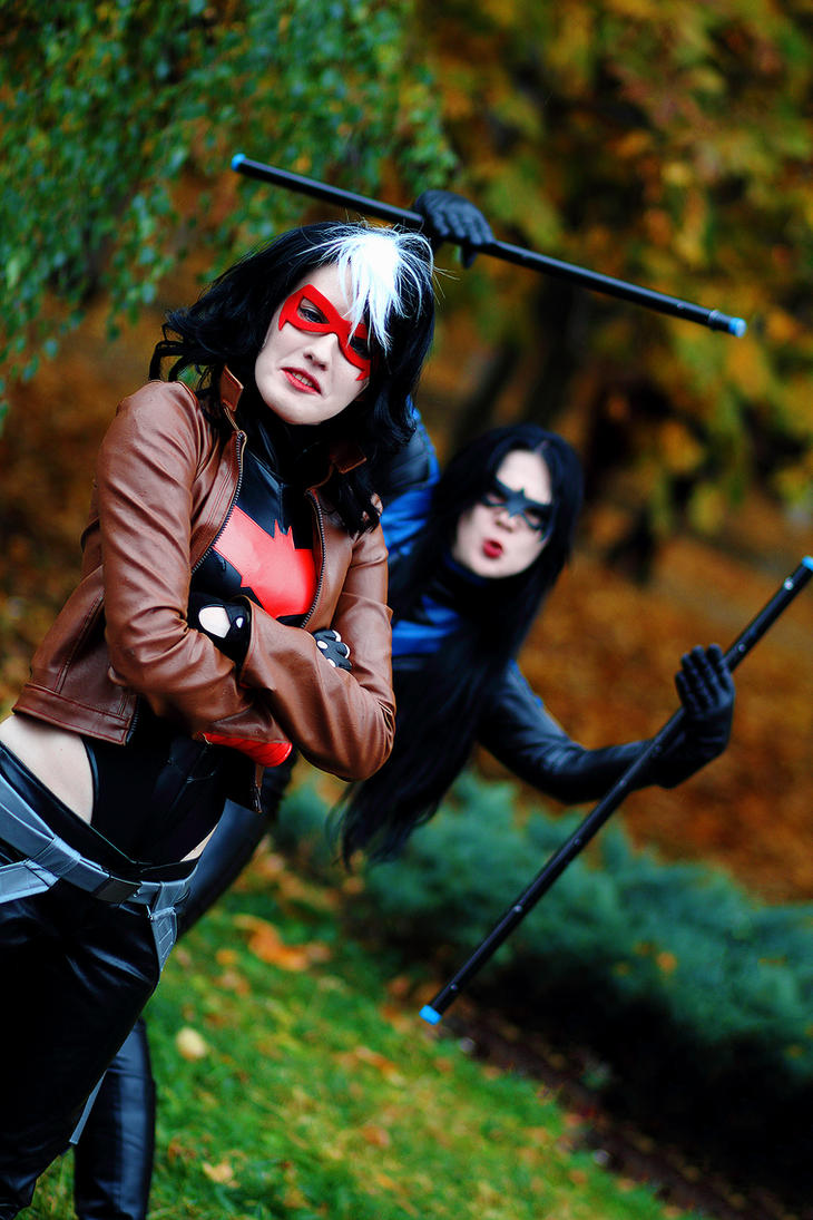 Fem/RedHood and Fem/Nightwing xD by OniksiyaSofinikum