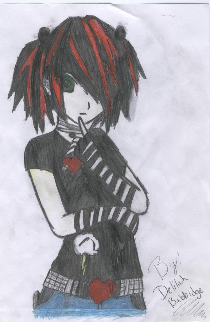 Goth Anime Girl by OreoKittys on DeviantArt