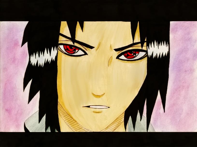 Sasuke with Sharingan by Goldsturm