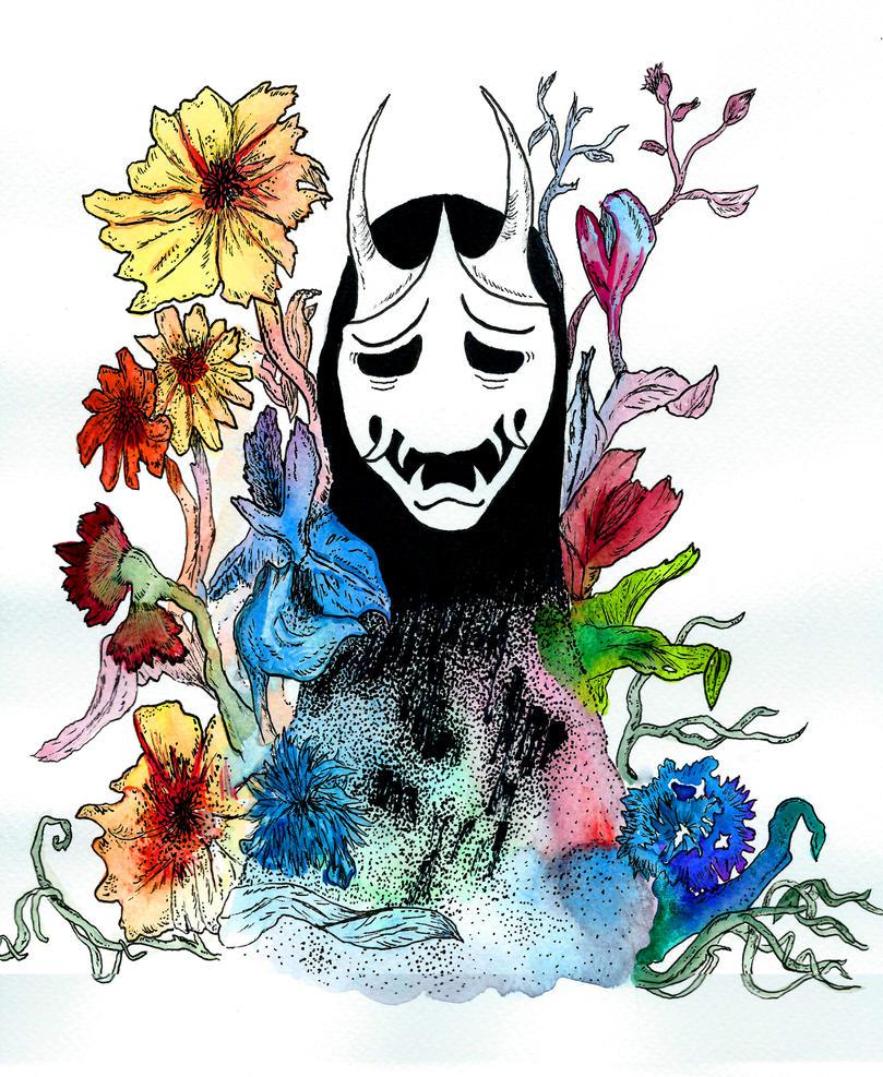 Hide behind my flowers by Goldsturm