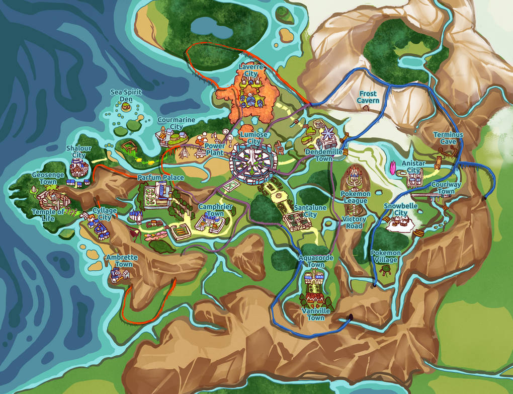 JOCT] Kalos Map by trusslark on DeviantArt on nintendo world map, fiore map, avalanche map, cricket map, human map, kanto map, sinnoh map, colorado map, helen of troy map, ssr map, pylos greece map, suburban map, tracker map, lumiose city map,