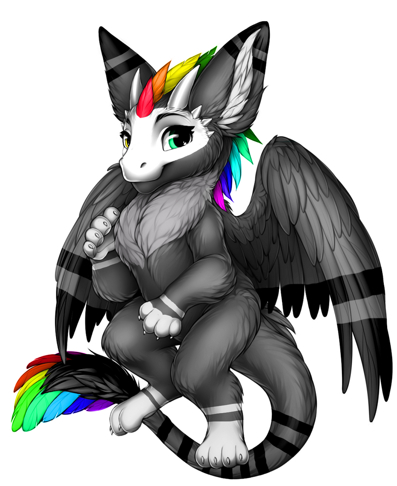 Black angel dragon