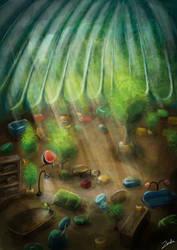 Interior sketch by Zinita