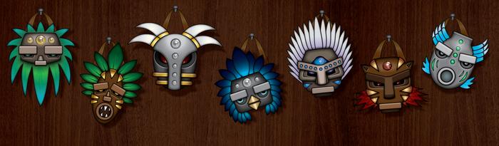 Shaman's revenge masks by Zinita