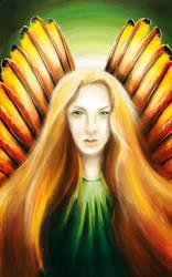 Golden Wings by Zinita