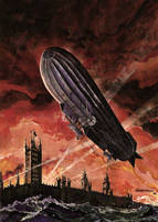 Dirigible soble Londres by barocelli