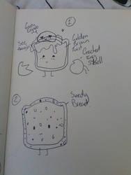 Seedy Toast and Egg on Toast Sketch by MrAvocadoNinja