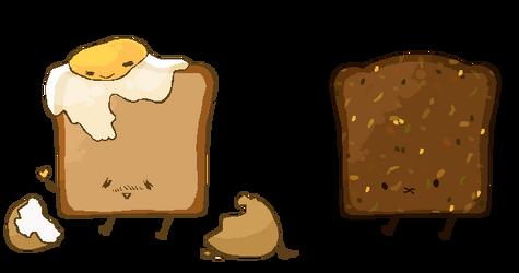 Seedy Toast and Egg on Toast by MrAvocadoNinja