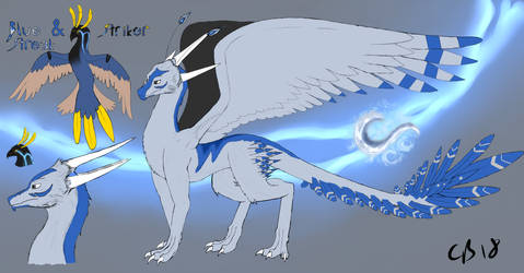 Blue Streak and Striker (Dragonified)