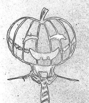 Mr Pumpkinhead by TheArtofTSA