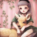 My dear lady deer