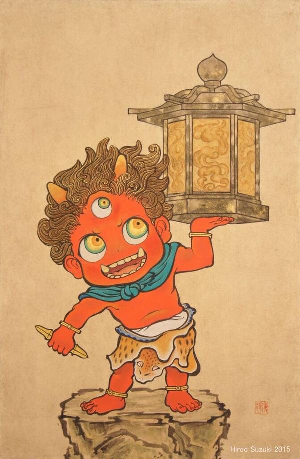 Tentoki (sky lantern imp) by Hiroo-Suzuki